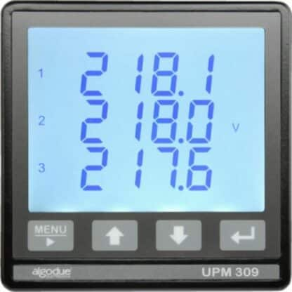UPM309 Power Analyser Panel Mount Comms Front View