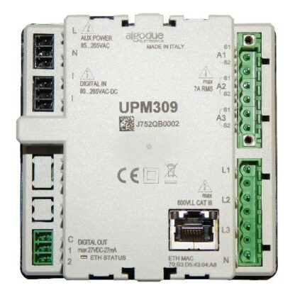UPM309 Power Analyser Panel Mount Comms Back View