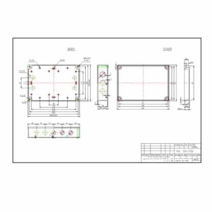 DS-PCG-1725 - Enclosure Dimensions