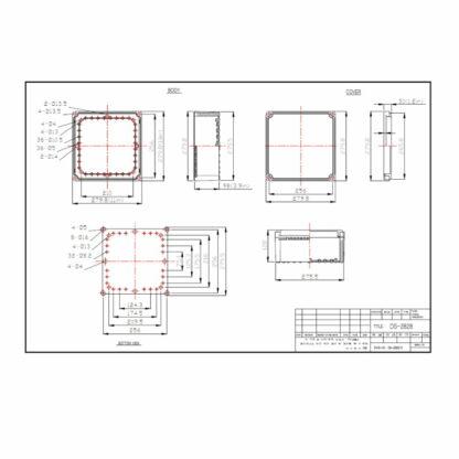 DS-PCG-2828 - Enclosure Dimensions
