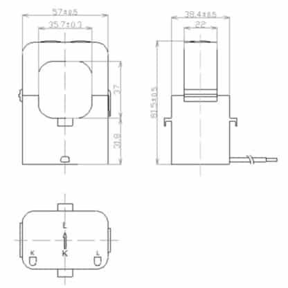 Echun ESC24 Split Core Current Transformer Dimensions